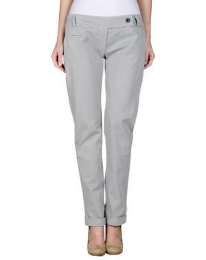Повседневные брюки MISS MONEY. Цвет: светло-серый