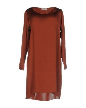 Короткое платье BRUNO MANETTI. Цвет: коричневый