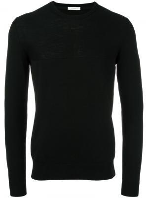 Джемпер с круглым вырезом Paolo Pecora. Цвет: чёрный