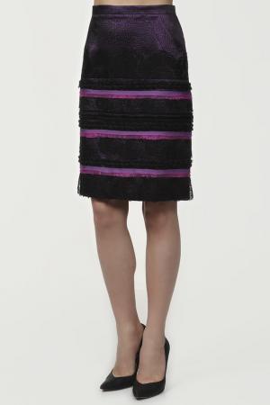 Юбка MARIA COCA. Цвет: фиолетовый