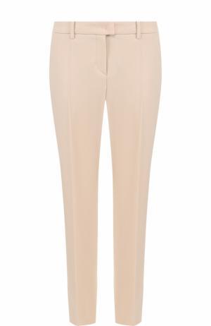 Укороченные шерстяные брюки со стрелками Windsor. Цвет: бежевый