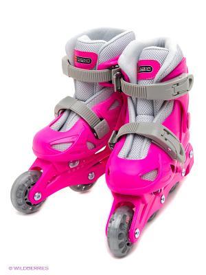 Коньки роликовые Re:action. Цвет: розовый
