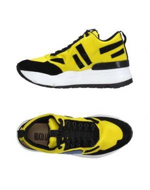 Низкие кеды и кроссовки RUCO LINE. Цвет: желтый