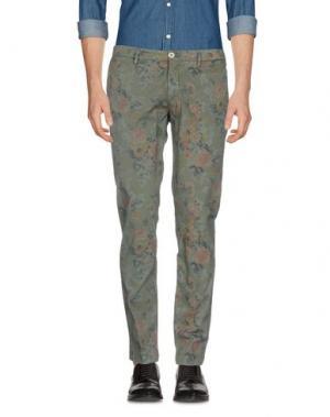 Повседневные брюки MANUEL RITZ WHITE. Цвет: зеленый-милитари