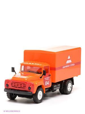 Машина Зил 130 Технопарк. Цвет: оранжевый, черный