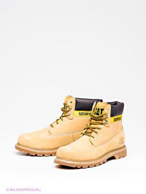 Ботинки Caterpillar. Цвет: желтый