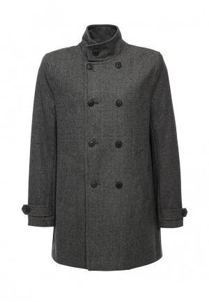 Пальто Burton Menswear London. Цвет: серый