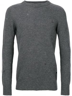 Distressed jumper Dondup. Цвет: серый