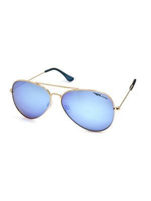 Солнцезащитные очки Legna. Цвет: голубой, золотистый
