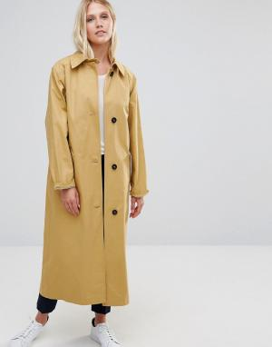 Cooper & Stollbrand Бежевое легкое oversize‑пальто. Цвет: бежевый