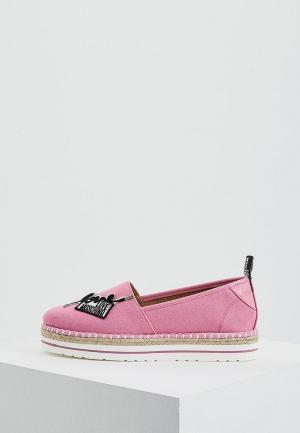 Эспадрильи Love Moschino. Цвет: розовый