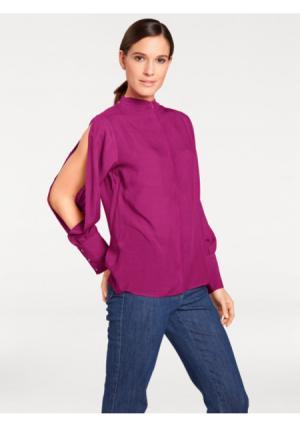 Блузка PATRIZIA DINI by Heine. Цвет: темно-синий, ягодный