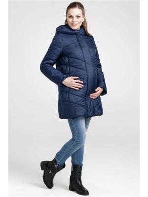 Пальто Modress. Цвет: синий