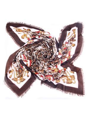 Платок MYLIKE. Цвет: коричневый