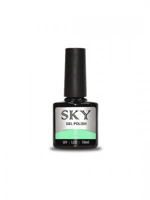 Гель-лак SKY 10 мл №131,. Цвет: морская волна, светло-зеленый