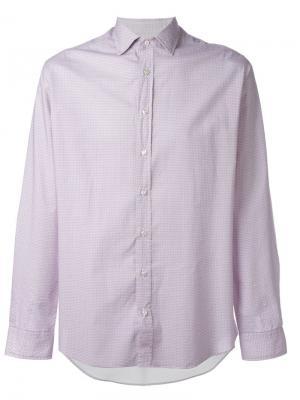 Рубашка с мелким узором Etro. Цвет: розовый и фиолетовый