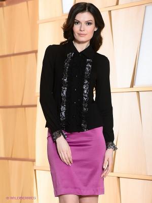 Блузка T&M. Цвет: черный