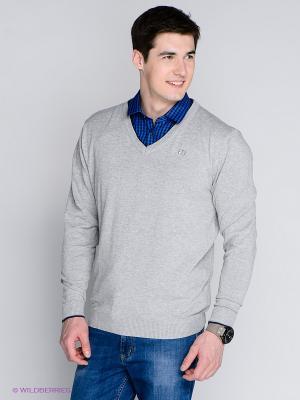 Пуловер MILANO ITALY. Цвет: серый меланж