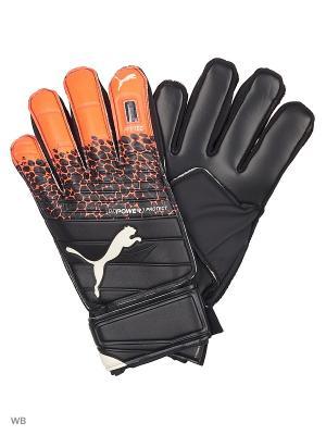 Вратарские перчатки evoPOWER Protect 3.3 PUMA. Цвет: черный, коралловый