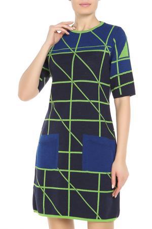 Платье DVROMA. Цвет: синий, зеленый