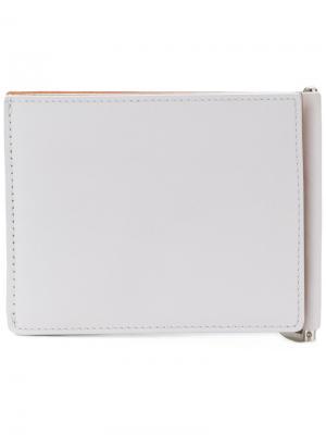 Складной бумажник Maison Margiela. Цвет: белый