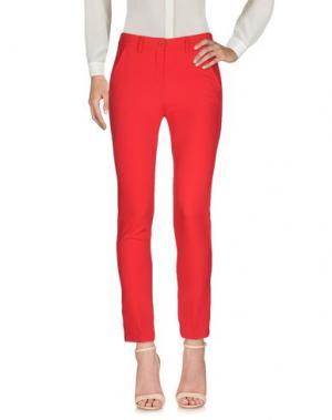 Повседневные брюки MIA SULIMAN. Цвет: красный