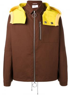 Куртка со съемным капюшоном Oamc. Цвет: коричневый