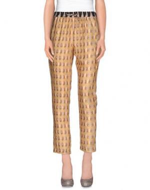 Повседневные брюки INTROPIA. Цвет: охра