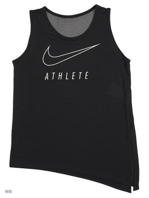 Топ G NK TANK SIDE TIE GFX Nike. Цвет: черный