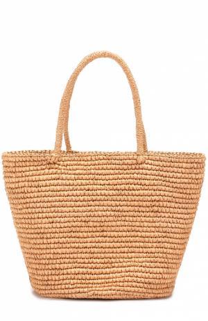 Плетеная сумка Sensi Studio. Цвет: бежевый