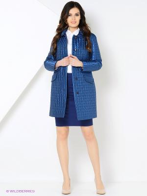 Пальто Lanicka. Цвет: синий