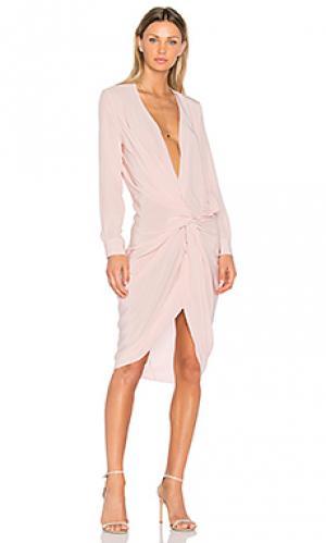 Платье-рубашка elana One Fell Swoop. Цвет: розовый