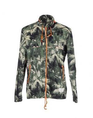 Куртка THE EDITOR. Цвет: зеленый-милитари