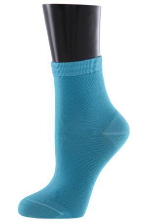 Носки TELLER. Цвет: голубой