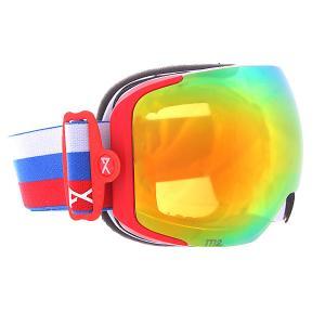 Маска для сноуборда  M2 Russia/Red Solex Anon. Цвет: белый,синий,красный
