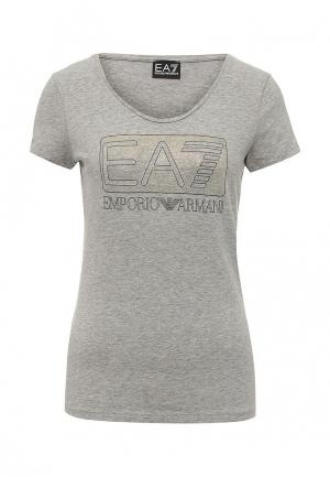 Футболка EA7. Цвет: серый