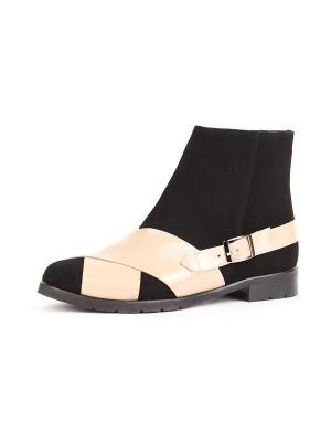Ботинки RICCORONA. Цвет: черный, бежевый