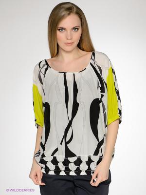 Блузка LUIGI FERRO. Цвет: черный, белый
