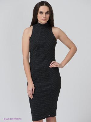 Платье BSB. Цвет: антрацитовый