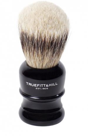 Помазок Шерсть барсука/Эбонит с серебром Wellington Truefitt&Hill. Цвет: бесцветный