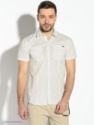 Рубашка GUESS. Цвет: белый, хаки