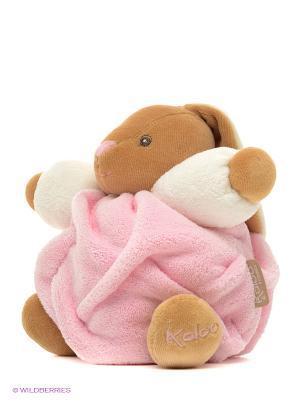 Заяц маленький светло-розовый, коллекция Плюм Kaloo. Цвет: розовый