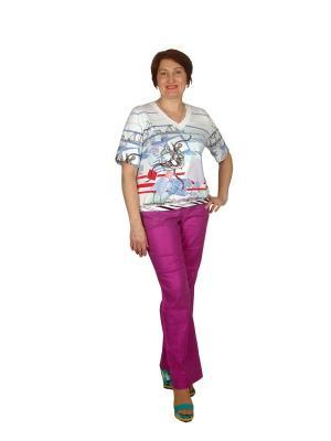 Блузки Rio collection. Цвет: голубой