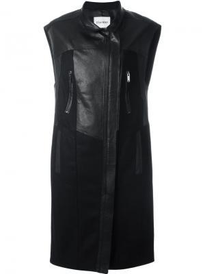 Пальто без рукавов Demoo Parkchoonmoo. Цвет: чёрный