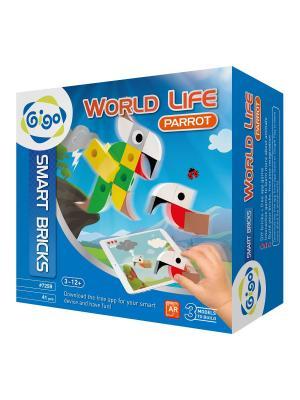 Животный мир, Попугай/WORLD LIFE, PARROT Gigo. Цвет: зеленый, желтый, серый