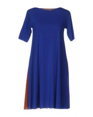 Короткое платье ALMERIA. Цвет: синий
