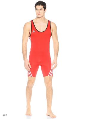Комбинезон для тяжелой атлетики Adidas. Цвет: красный