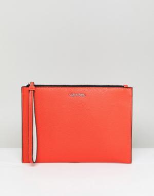 Calvin Klein Кошелек из искусственной кожи. Цвет: оранжевый