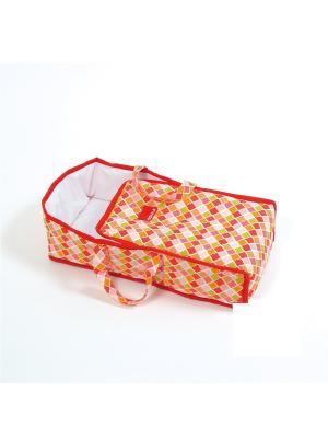 Кроватка -переноска для кукол. Goula. Цвет: оранжевый