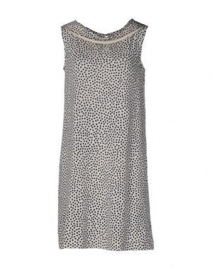 Короткое платье SIYU. Цвет: слоновая кость